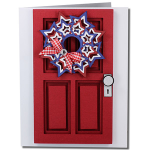 fourth of july coffered door card