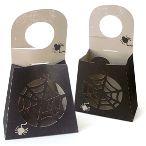 3d doorhanger box - spider web