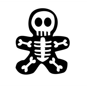 halloween skeleton cookie