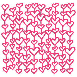 lined hearts background