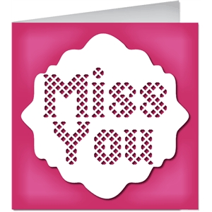 lattice miss you card