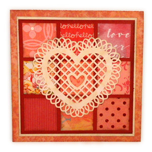 heart doily quilt patch 6x6 card