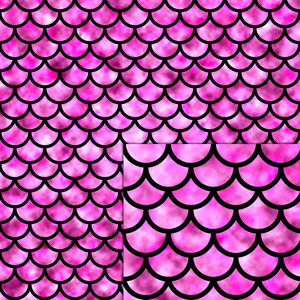 mermaid scales pink pattern