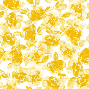 yellow vintage flower pattern