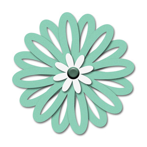 layered cutout outline flower