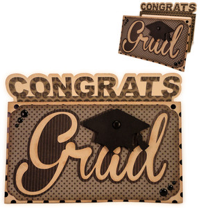 congrats grad money 5x7 card