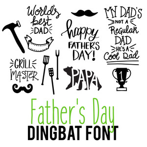 father's day dingbat font
