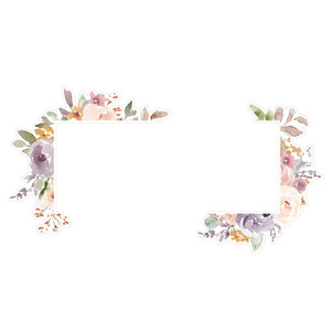 watercolor floral frame corners