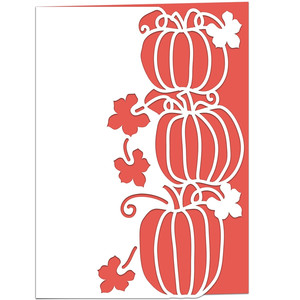 pumpkin lace edged card