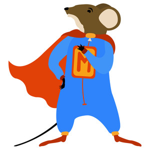super hero mouse paper doll
