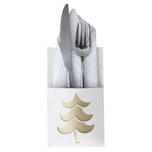 christmas tree flatware holder