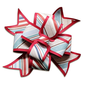 wide layered gift bow