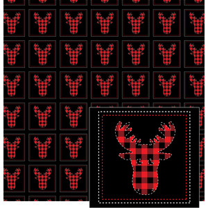 moose head stitches pattern
