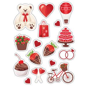 ml valentine goodies stickers