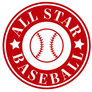 all star baseball/softball label