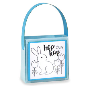 easter coloring treat bag