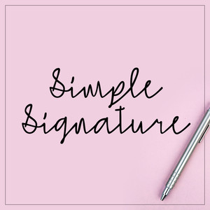 simple signature font