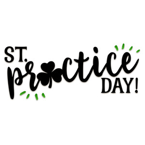 st. practice day word art