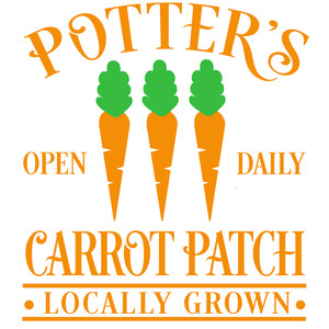 potter's carrot patch sign
