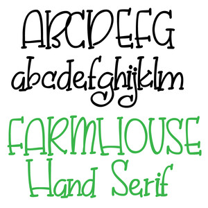 pn farmhouse hand serif