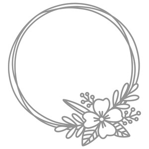 monogram flower frame