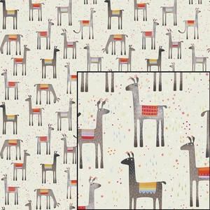 llamas in the meadow pattern