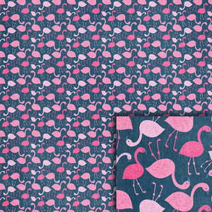 blue flamingos background paper