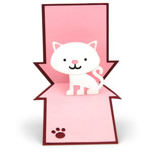 pop up card cat house