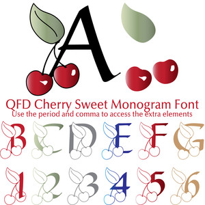 qfd cherry sweet monogram font