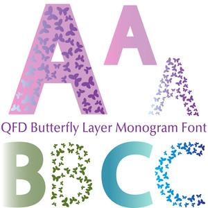 qfd butterfly layer monogram font