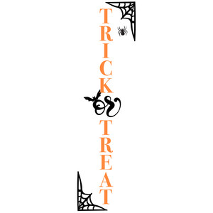 trick or treat porch sign