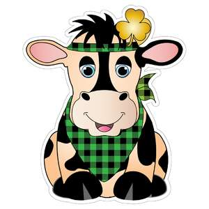fun, st. patrick's day cow