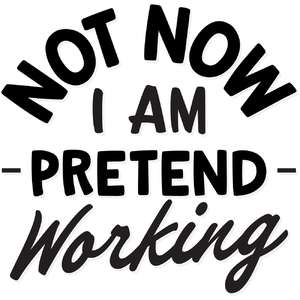 not now i am pretend working