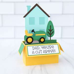 box card father's day mower