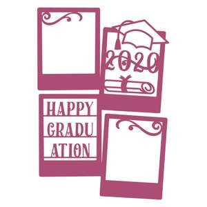 happy graduation photo frame