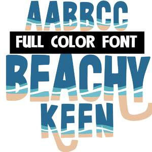 beachy keen color font