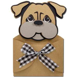 bulldog pup hug gift card holder