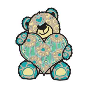 multi layer mandala teddy bear