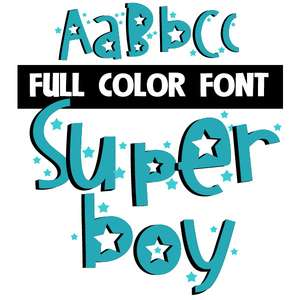 super boy color font