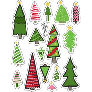 ml christmas tree cuties stickers