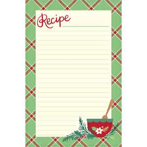 holiday cookbook recipe page plaid