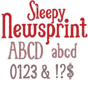 sleepy newsprint font