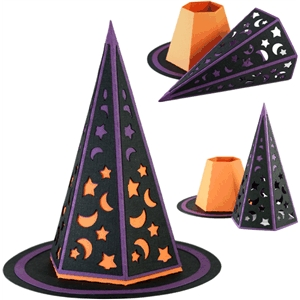 3d hat box - midnight witch