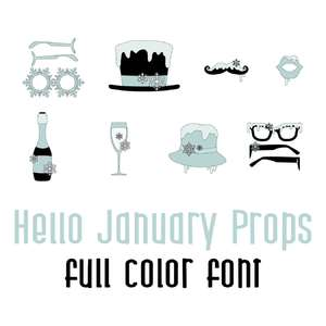 hello january props full color font