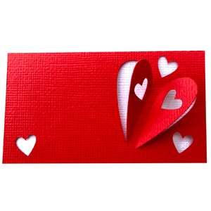 3d heart place cards