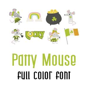 patty mouse full color font