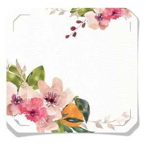 watercolor floral tag