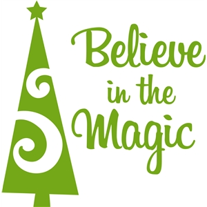 'believe in the magic' christmas title vinyl art