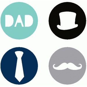 set of 4 male / dad icons