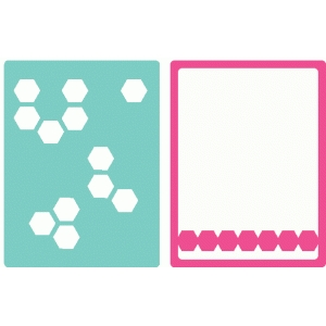 set of 2 hexagon journaling cards